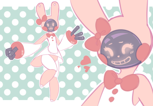 (sold) BUNN-1 HELP-A-LOT robot bun Adopt by royalraptors