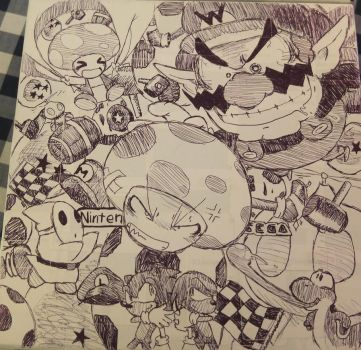 Two siblings draw video game-related stuff by AKHTS