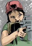 'Little Girl With Gun' Color by StudioCreations