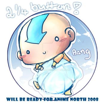 Little Airbender +button+ by jinyjin