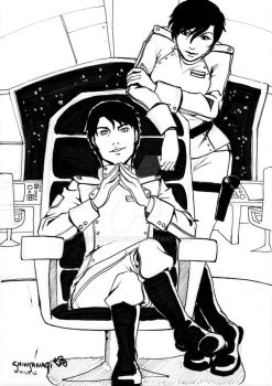 Fanart : Miles and Elli Quinn from Vorkosigan