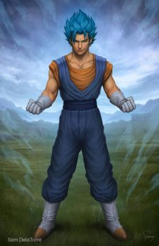 Dragon Ball Super - Vegito Blue by SamDelaTorre