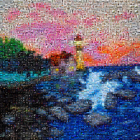 mosaic lighthouse 1 by KRSdeviations