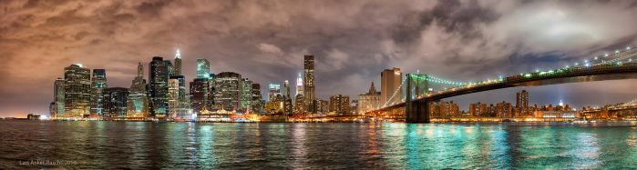 Manhattan skyline by lashrasch