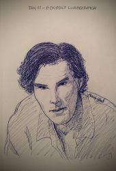Benedict Cumberbatch - Day 11 - Inktober by LaChicaRara