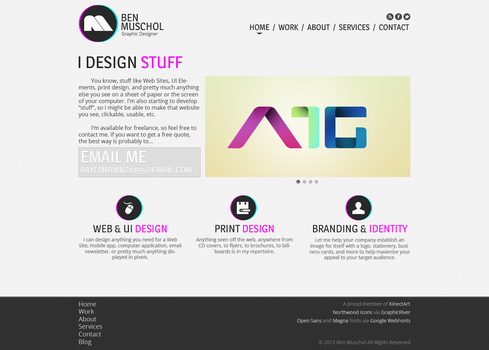 Personal Website Home Page Design by muschgraphics