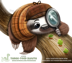 Daily Paint 1910# Three-Toed Sleuth by Cryptid-Creations