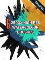 6 High res Watercolour Brushes by Qbrushes