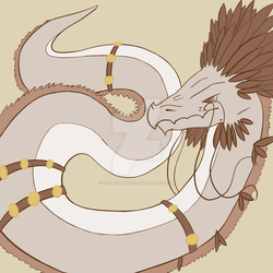 Day 10: Feather Dragon Colored by Unsuspicious-Pizza