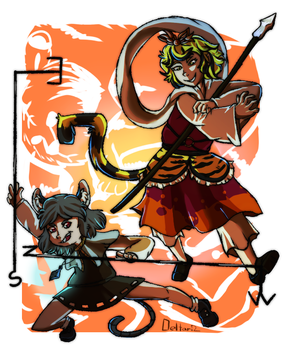 The Tiger and the Mouse by deltari2