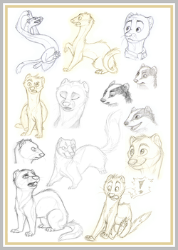 Mustelid Collage by Avanii