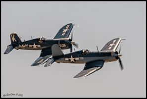Corsairs Planes of Fame 2013 by AirshowDave