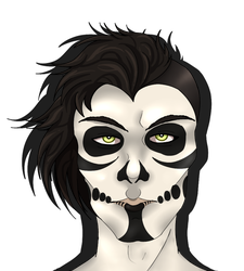 Random skull faced dude that may become an oc by KrysaVorona