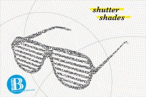 shutter shades vector graphic by broens