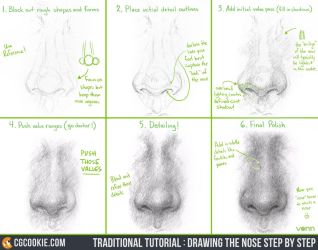 Tutorial: Drawing the Nose Step by Step by CGCookie