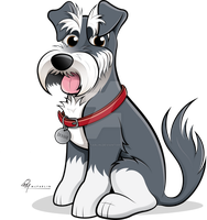 Schnauzer Caricature (Coloured) by timmcfarlin