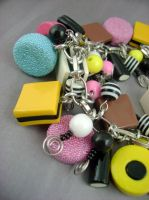 Liquorice Allsorts Bauble Bracelet by monsterkookies