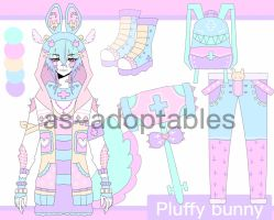 Pluffy Bunny adoptable CLOSED(LEGENDARY) by AS-Adoptables