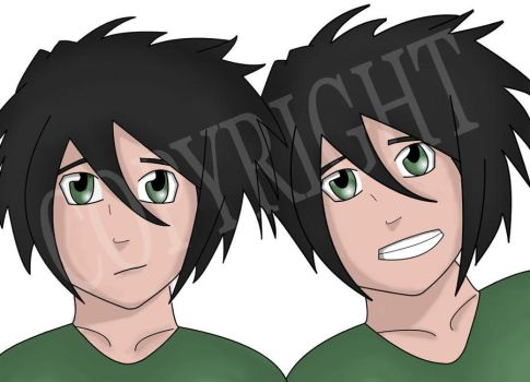 Kona and Natsu - My twin OC's :D by mmeades01
