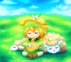 Harvest Moon - Sleepy Sheepy by lemondragon19