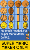 Super Mario Maker: Star Coin (SMB1/SMB3/SMW) by qwertyuiopasd1234567