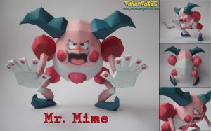 Mr. Mime Papercraft by Olber-Correa