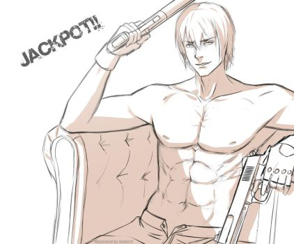 Dante - Devil may cry 3 (sketch) by Danfer3