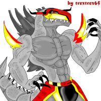 GODZILLA IS Digimon MONSTERS by trextrex65