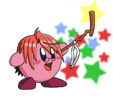 Negi Kirby by DarkDragonDave