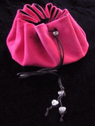 Pink Suede Pouch by Canuckdesz