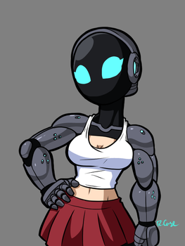 Cyborg lady by rongs1234