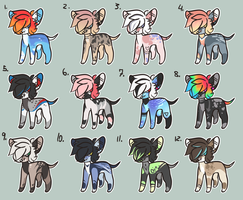 100 pts Adoptables 3 [OPEN] by Arkay9