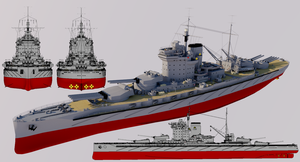 Righteous-class Super-Dreadnought 1940 Refit by TheoComm