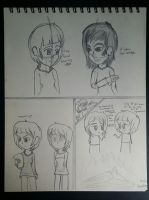 Random Sketches - Trying different Art Styles by Riyana2