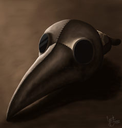 Plague Doctor Mask by Mrs-Misty-Eyed