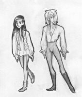 Labyrinth sketches: sarah and jareth by Ialeth-of-the-Mist