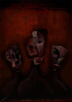 Of Masks by larkie