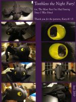 Toothless Plush Collage by Caty-P-Boots