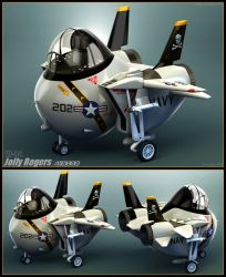 F-14 Jolly Rogers Junior by Siregar3D