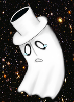Napstablook by ShanteiDraws