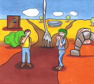 Board Game Art - Fork in the Road by The-One-Free-Man82