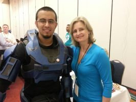 Lunar Spartan with Cathy Weseluck by EROCKERTORRES