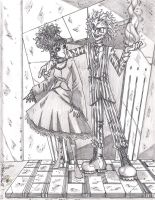 Lydia Deetz and Beetlejuice by thrtns320