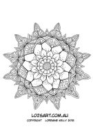 Another Mandala Colouring Page Completed by LorraineKelly