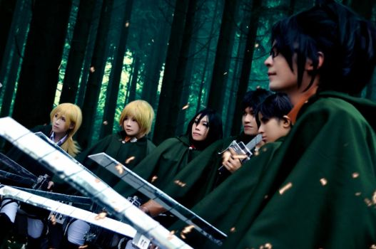 Attack on Titan : Scouting legion by Junez-chan