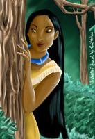 Pocahontas Colouring Page by hollano