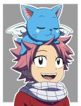 Natsu and Happy Fairy Tail by fer-gon