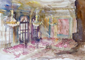 Interiors of the Artus Court, 36x51cm by NiceMinD