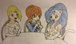 Three Good Friends 2 (Cammy, Kasumi and Felicia) by KishiTheDragoness95