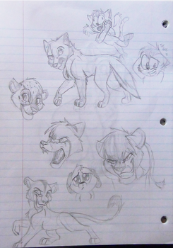 School Sketch Dump 1 by JustAutumn
